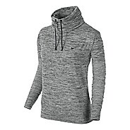 Womens Nike Dri-Fit Infinity Coverup Long Sleeve No Zip Technical Tops