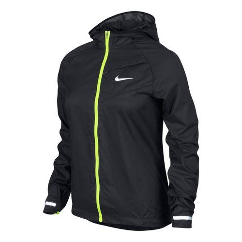 Womens Nike Impossibly Light Running Jackets - Black/Volt M