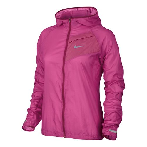 Womens Nike Impossibly Light Running Jackets - Hot Pink L