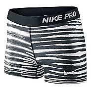"Womens Nike Pro 3"" Tiger Fitted Shorts"