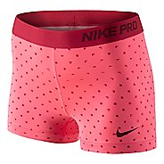 "Womens Nike Pro 3"" Polka Square Fitted Shorts"