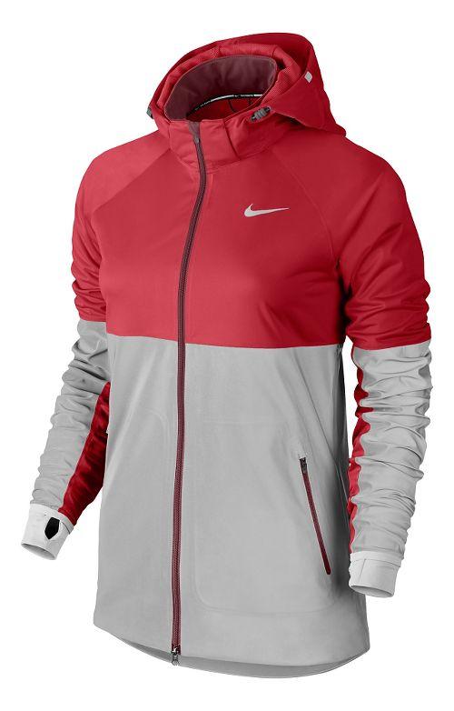 Womens Nike Shield Flash Running Jackets - Formula Red M