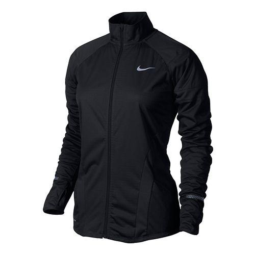 Womens Nike Element Shield Full Zip Running Jackets - Black L