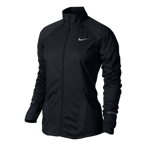 Womens Nike Element Shield Full Zip Running Jackets - Black XL