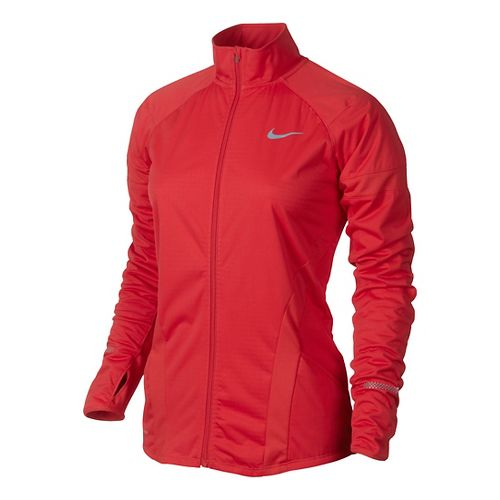 Womens Nike Element Shield Full Zip Running Jackets - Formula Red L