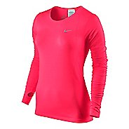 Womens Nike Dri-Fit Knit Long Sleeve No Zip Technical Tops