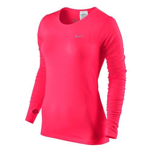 Womens Nike Dri-Fit Knit Long Sleeve No Zip Technical Tops - Fruit Punch XL