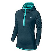 Womens Nike Wool Hoodie Long Sleeve No Zip Technical Tops