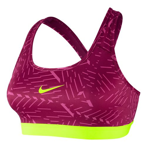 Womens Nike Pro Classic Bash Sports Bra - Hot Pink XS