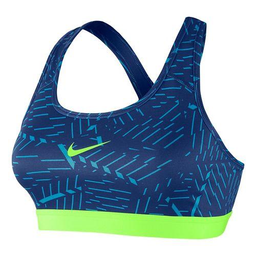 Womens Nike Pro Classic Bash Sports Bra - Lake Blue L