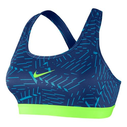 Womens Nike Pro Classic Bash Sports Bra - Lake Blue XL