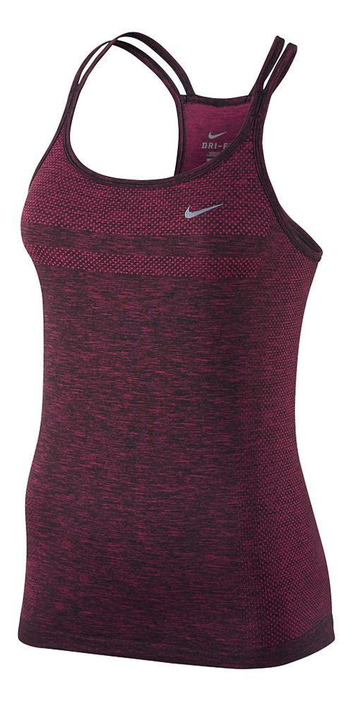 Womens Nike Dri-Fit Knit Strappy Tanks Technical Top - Vivid Pink XL