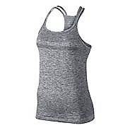 Womens Nike Dri-Fit Knit Strappy Tanks Technical Top - Black/Heather XL