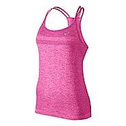 Womens Nike Dri-Fit Knit Strappy Tanks Technical Top - Black/Heather XL
