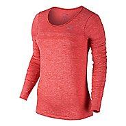 Womens Nike Dri-Fit Knit Long Sleeve No Zip Technical Tops