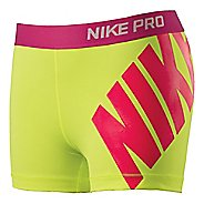 "Womens Nike Pro 3"" Logo Short Fitted Shorts"