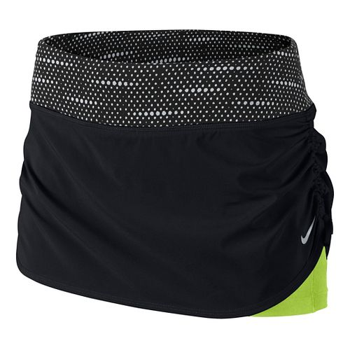 Womens Nike Rival Fitness Skirts - Black/Volt XL