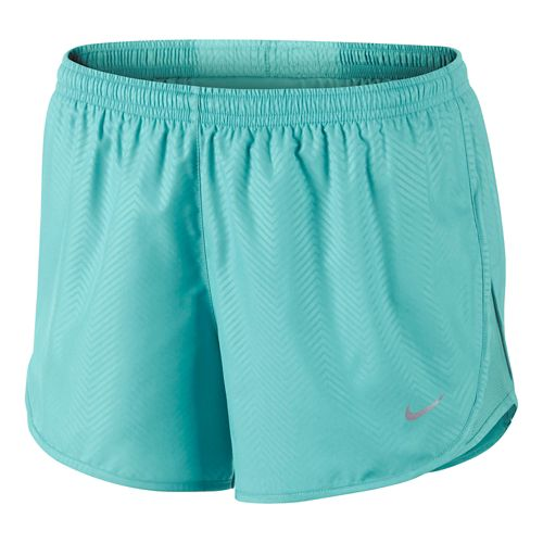 Womens Nike Modern Embossed Tempo Lined Shorts - Light Aqua L