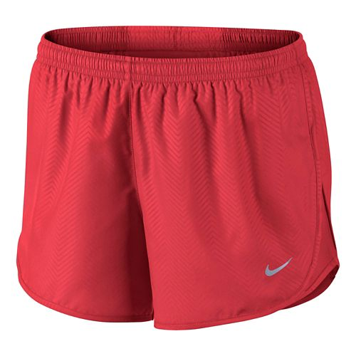 Womens Nike Modern Embossed Tempo Lined Shorts - Daring Red L