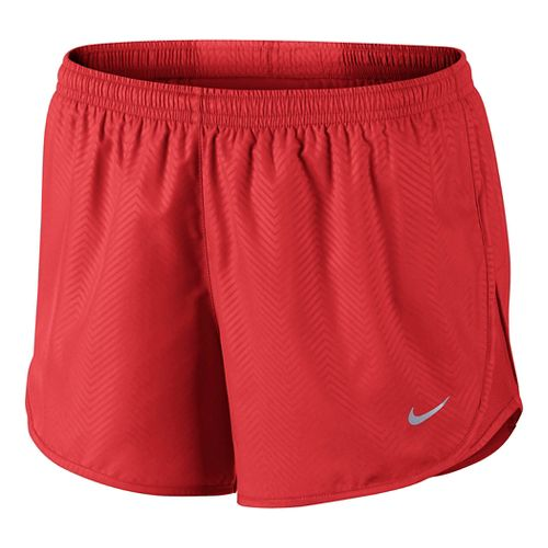 Womens Nike Modern Embossed Tempo Lined Shorts - Light Crimson L