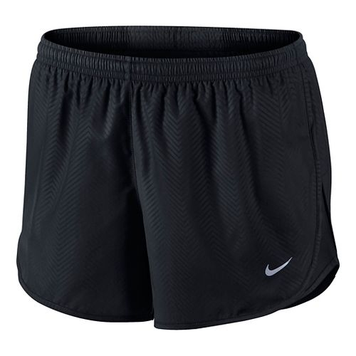 Womens Nike Modern Embossed Tempo Lined Shorts - Black XL