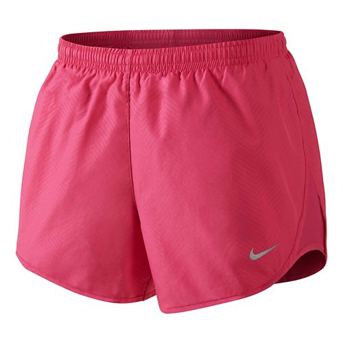 Womens Nike Modern Embossed Tempo Lined Shorts - Hot Pink L