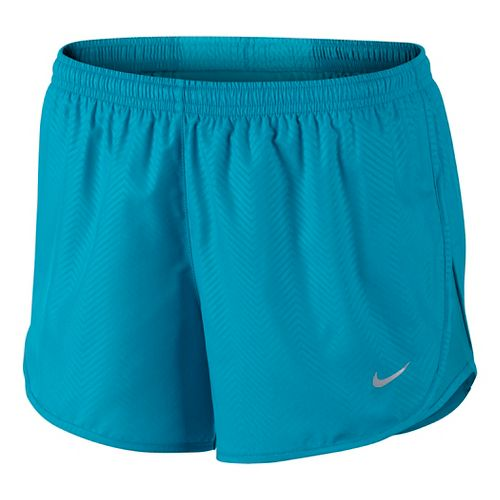 Womens Nike Modern Embossed Tempo Lined Shorts - Lake Blue XS