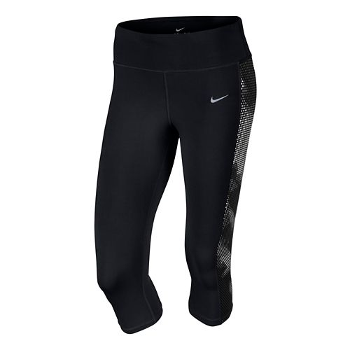 Womens Nike Printed Epic Lux Capri Tights - Black XL