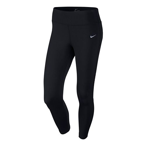 Womens Nike Epic Lux Crop Capri Tights - Black L