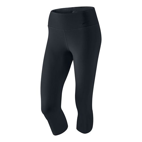 Womens Nike Legendary Capri Tights - Black XS