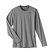 Mens Nike Pro Combat Fitted Crew Long Sleeve No Zip Technical Tops