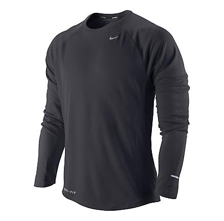 Mens Nike Miler UV Long Sleeve No Zip Technical Tops