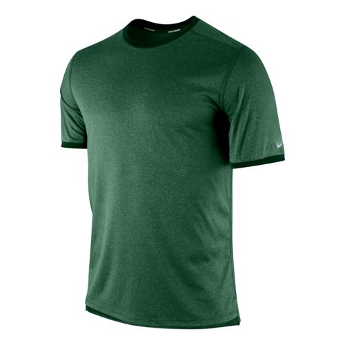 Mens Nike Relay Short Sleeve Technical Tops - Evergreen L
