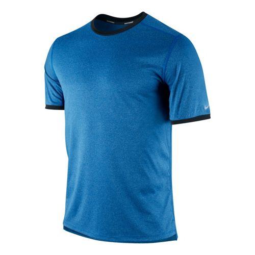 Mens Nike Relay Short Sleeve Technical Tops - Sapphire/Heather XL
