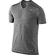 Mens Nike Tailwind V Neck Short Sleeve Technical Tops