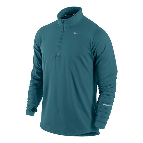Mens Nike Element Long Sleeve 1/2 Zip Technical Tops - Atomic Teal L