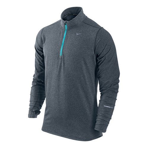 Mens Nike Element Long Sleeve 1/2 Zip Technical Tops - Carbon S