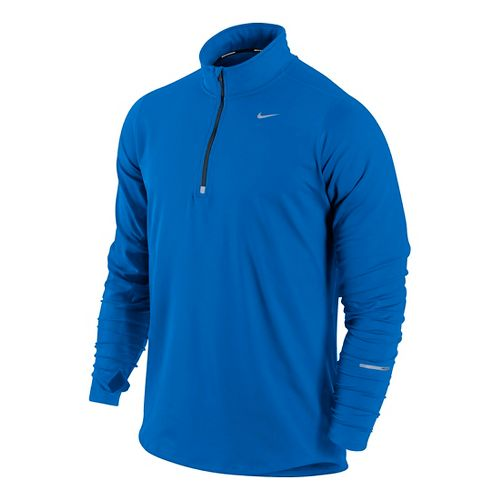 Mens Nike Element Long Sleeve 1/2 Zip Technical Tops - Cobalt L