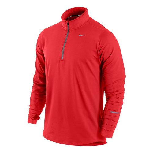 Mens Nike Element Long Sleeve 1/2 Zip Technical Tops - Crimson L