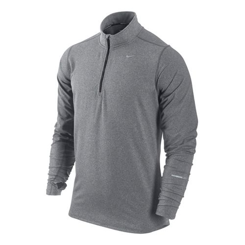 Mens Nike Element Long Sleeve 1/2 Zip Technical Tops - Grey XL