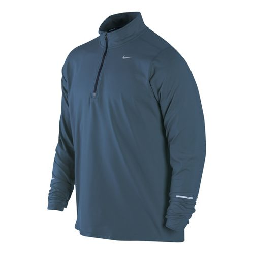 Mens Nike Element Long Sleeve 1/2 Zip Technical Tops - Jet Blue L