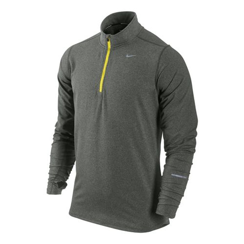 Mens Nike Element Long Sleeve 1/2 Zip Technical Tops - Mercury/Flash Yellow XL