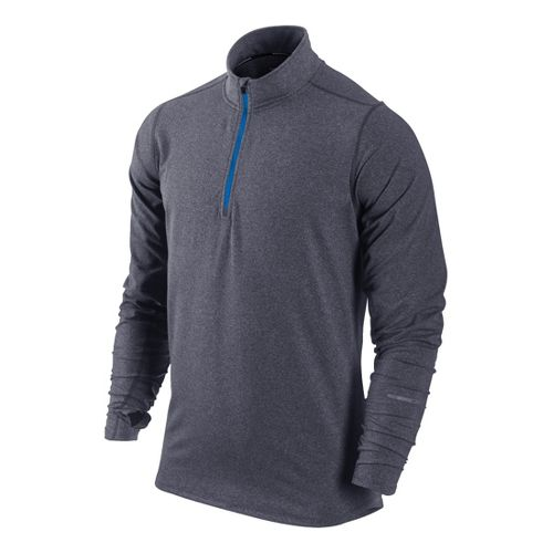 Mens Nike Element Long Sleeve 1/2 Zip Technical Tops - Navy/Heather S