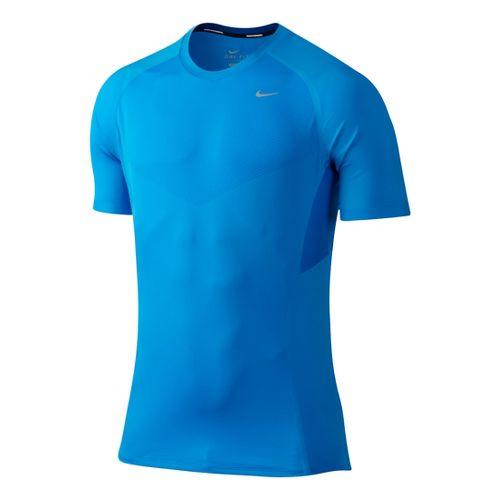 Mens Nike Speed Short Sleeve Technical Tops - Brilliant Blue M