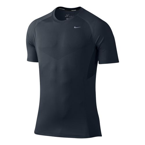 Mens Nike Speed Short Sleeve Technical Tops - Navy S
