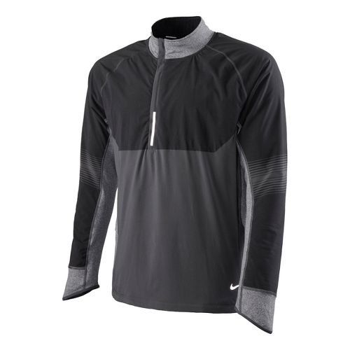 Mens Nike Sphere Dry Long Sleeve 1/2 Zip Technical Tops - Dark Grey M