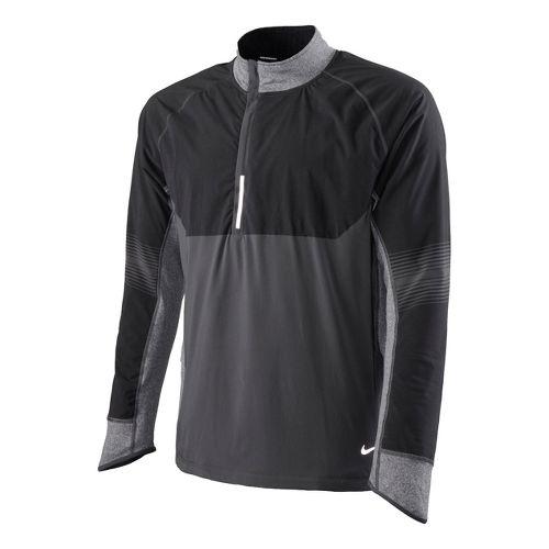 Mens Nike Sphere Dry Long Sleeve 1/2 Zip Technical Tops - Dark Grey M