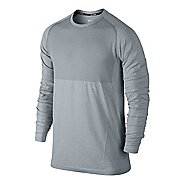 Mens Nike Seamless Long Sleeve No Zip Technical Tops