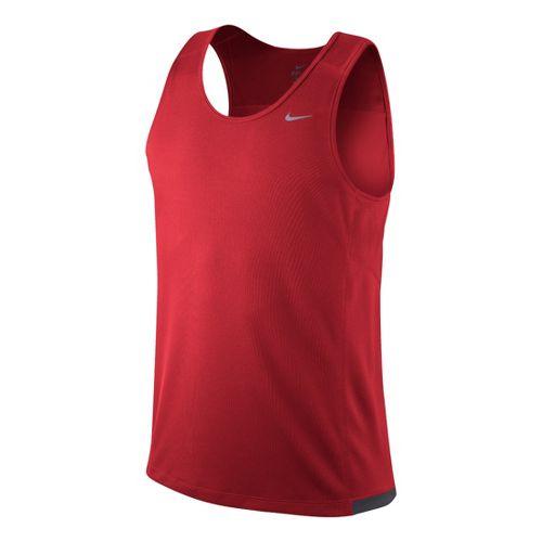 Mens Nike Miler Singlet II Technical Tops - Chili Red L