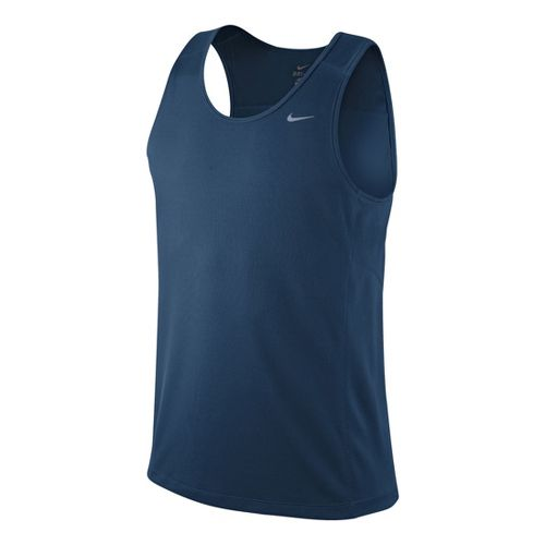 Mens Nike Miler Singlet II Technical Tops - Deep Blue L